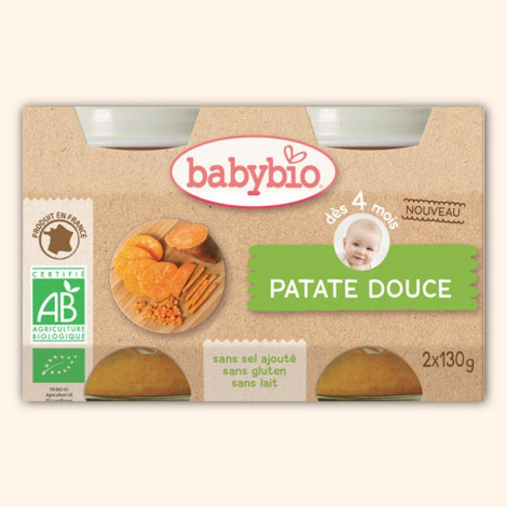 Petits pots patate douce bio - dès 4 mois - 2x130g - divers - babybio -188784