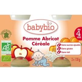 Petits pots pomme/abricot/céréales bio - dès 4... - divers - babybio -133632