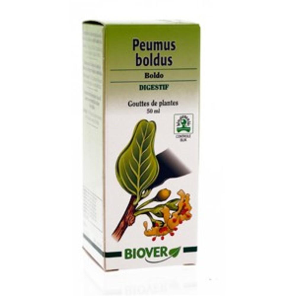 Peumus boldus (boldo) bio - 50.0 ml - gouttes de plantes - teintures mères - biover Action sur la digestion-8986