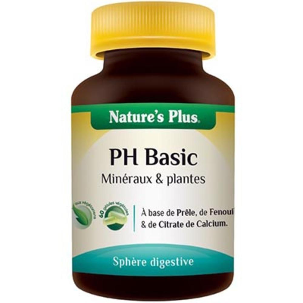 Ph basic - 60.0 unites - digestion - transit - nature plus Corriger l'excès d'acidité corporelle-8634