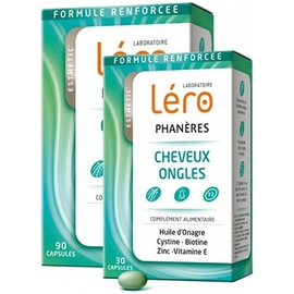 Phanères cheveux et ongles - 90 capsules + 30 capsules offertes - lero -210934
