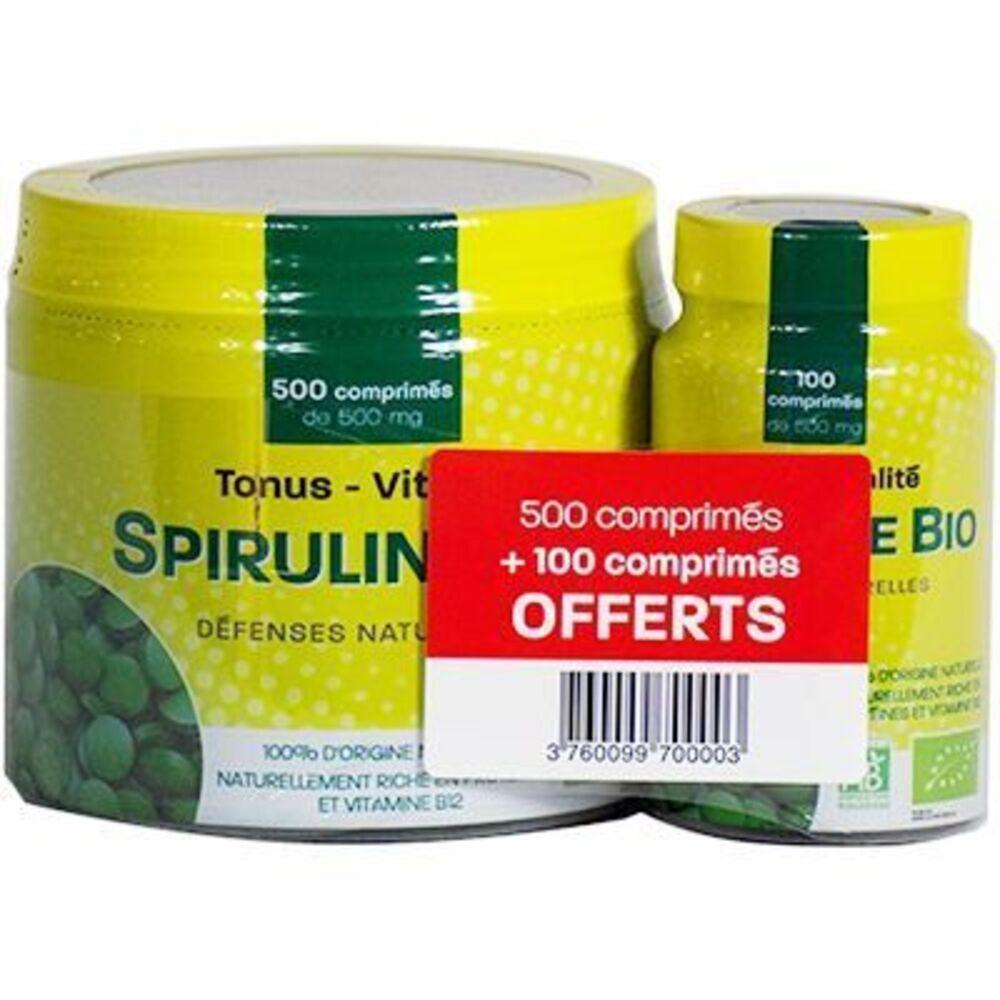 Pharm up spiruline bio 500 comprimés + 100 comprimés offerts - pharm'up -223023