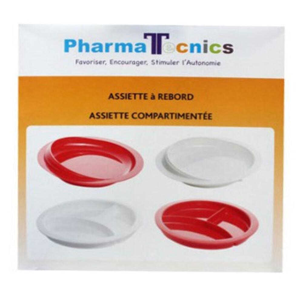 Pharma tecnics assiette à rebord et compartimentée - pharma tecnics -210318