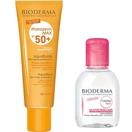Photoderm max spf50+ aquafluide 40ml + créaline h2o 100ml - bioderma -214014