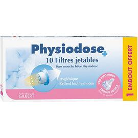 Physiodose filtres mouche bébé boîte de 10 + 1 embout - gilbert -224410