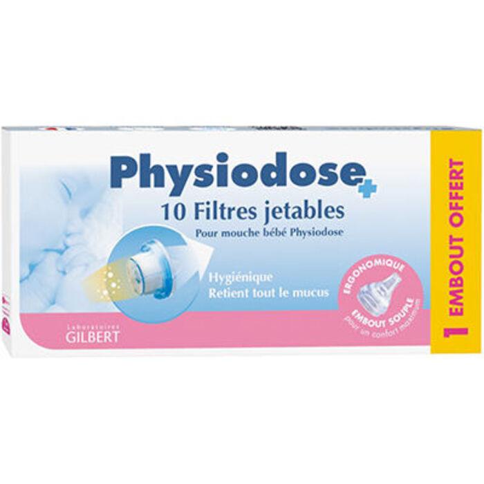 Physiodose filtres mouche bébé boîte de 10 + 1 embout Gilbert-224410