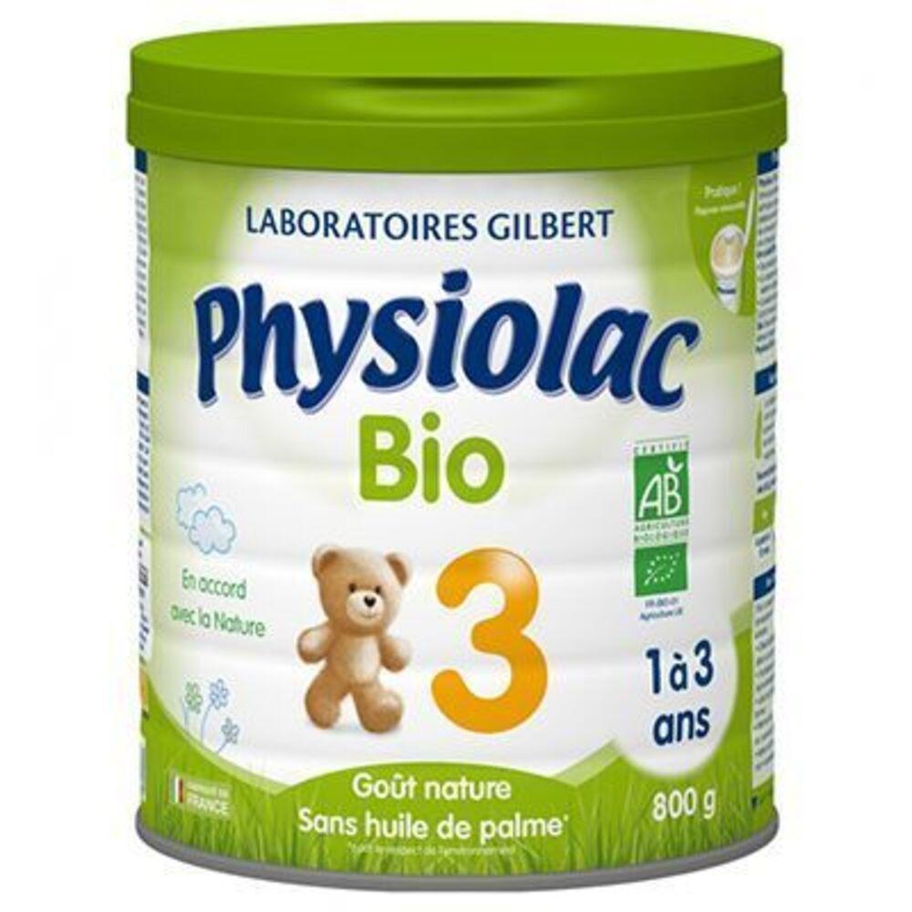 Physiolac bio 3ème âge de 1 à 3 ans 800g - physiolac -220858