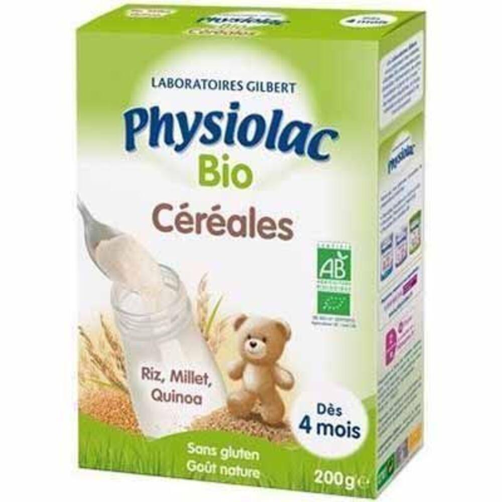 Physiolac bio céréales goût nature 200g Physiolac-223575