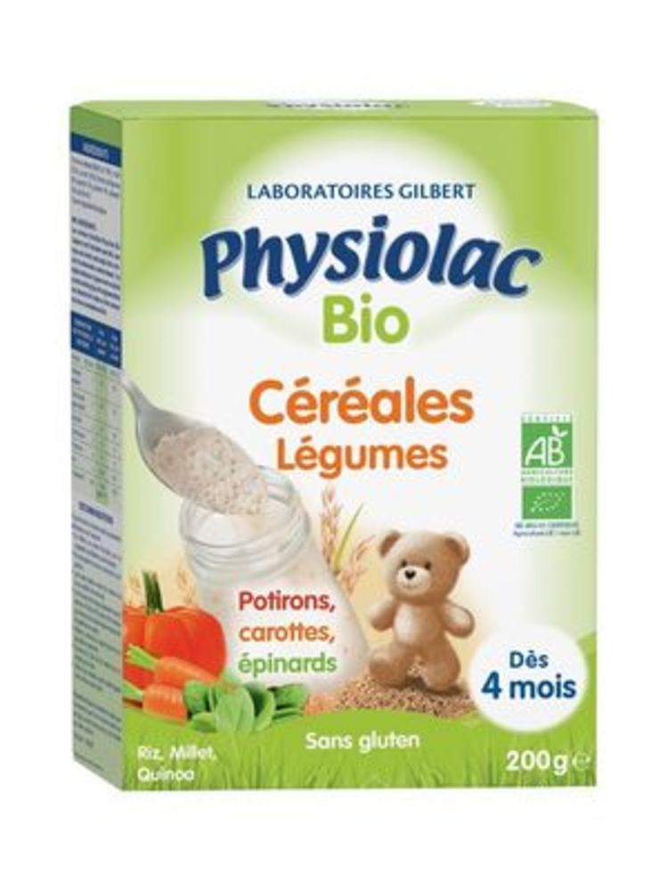 Physiolac bio céréales légumes 200g - physiolac -226247