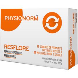 Physionorm resflore 4 sachets - laboratoire immubio -219150