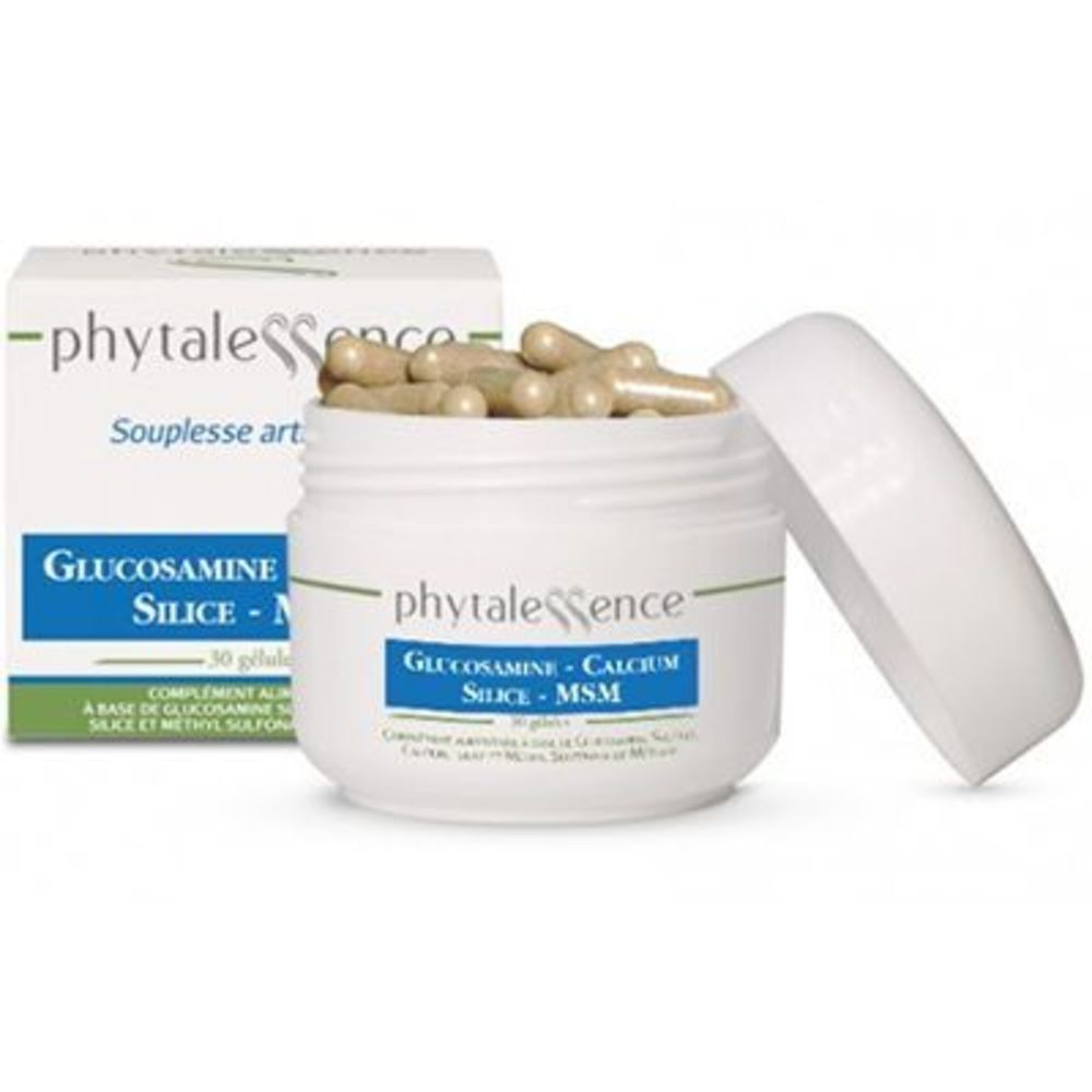 Phytalessence glucosamine calcium silice 30 gélules - phytalessence -149896