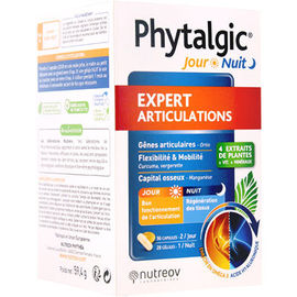 Phytalgic jour nuit expert articulations 56 capsules jour + 28 gélules nuit - nutreov -228340