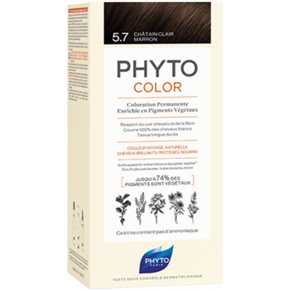 Phyto phytocolor 5.7 châtain clair marron - phyto -223180