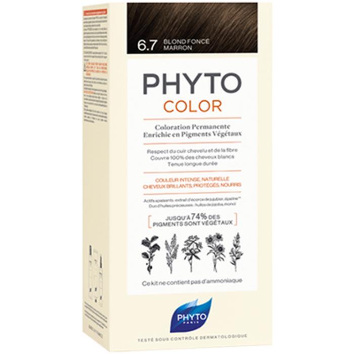 Phyto phytocolor 6.7 blond foncé marron Phyto-223183
