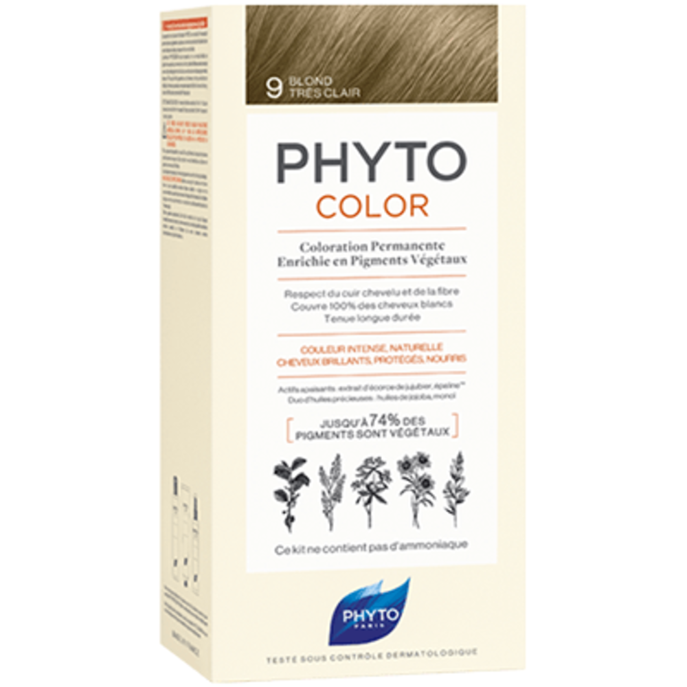 Phyto phytocolor 9 blond très clair - phyto -223189