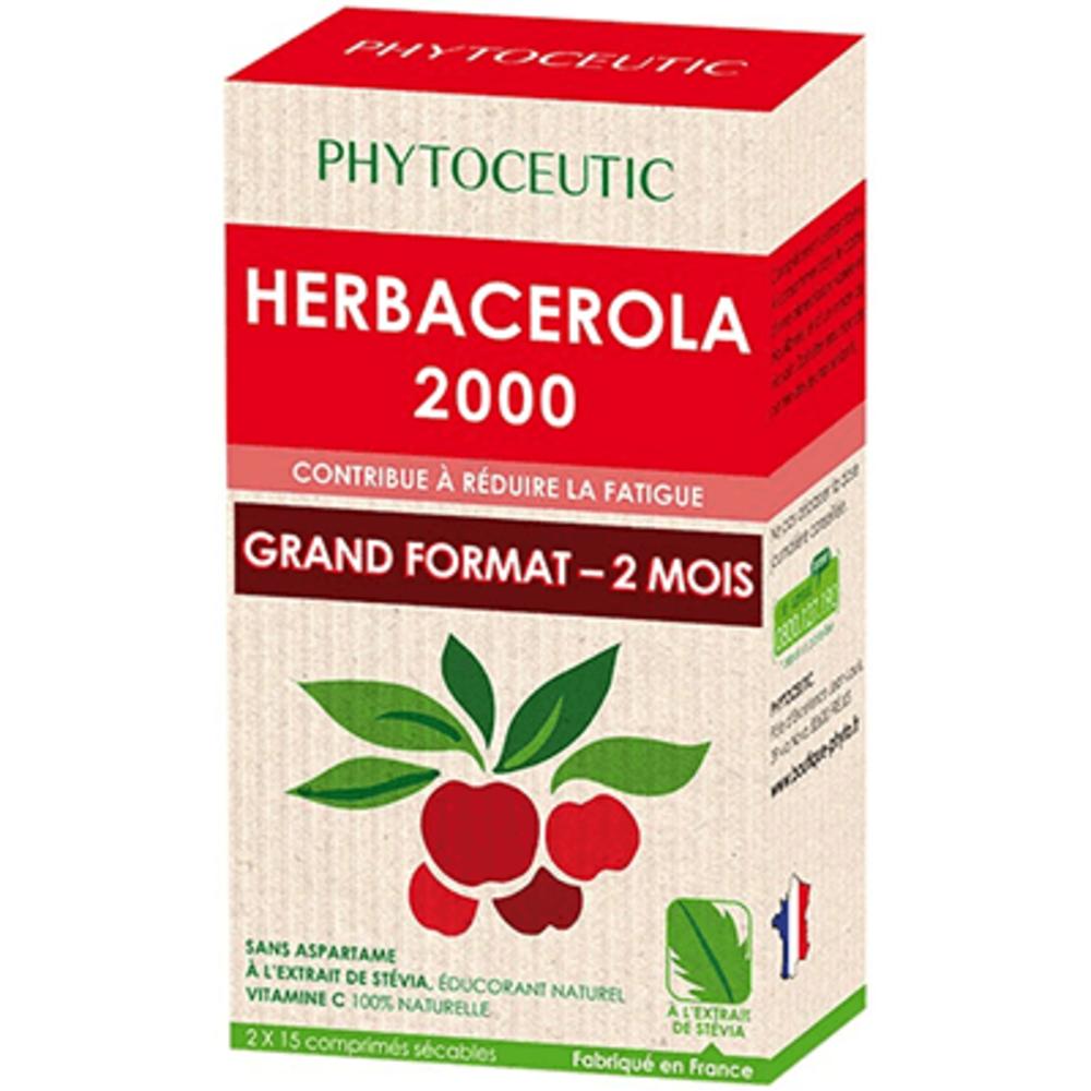 PHYTOCEUTIC Herbacerola 2000 2x15 comprimés - 30.0 unites - Phytoceutic -5813