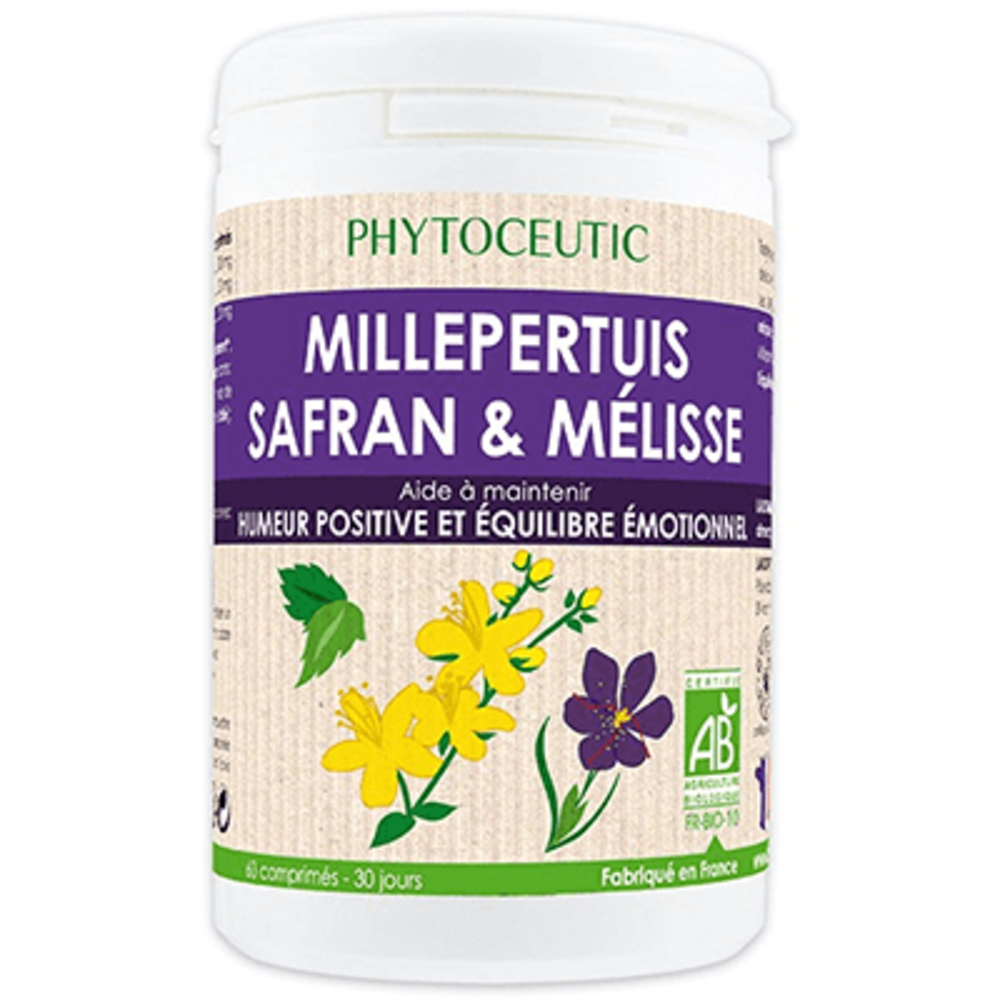 Phytoceutic millepertuis safran mélisse bio 60 comprimés - 60.0 unites - phytoceutic -141274