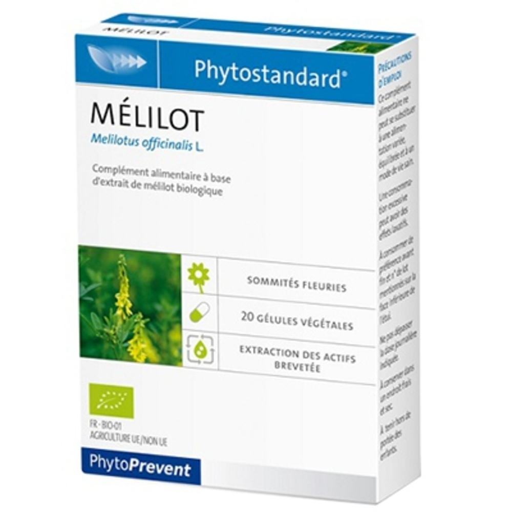Phytoprevent phytostandard mélilot 20 gélules - pileje -198886