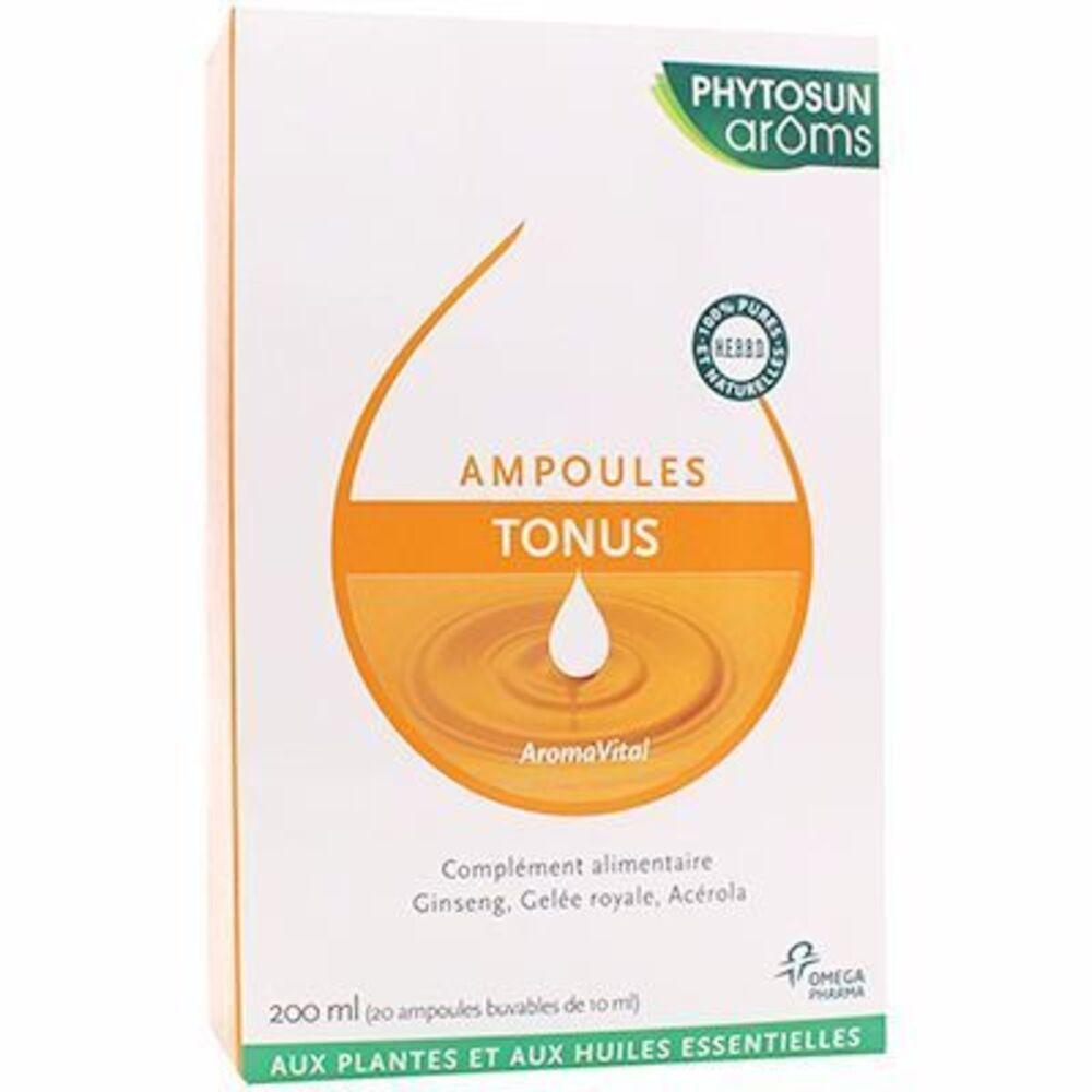 prix d 39 omega pharma phytosun aroms compl ment alimentaires tonus boite de 20 ampoules. Black Bedroom Furniture Sets. Home Design Ideas