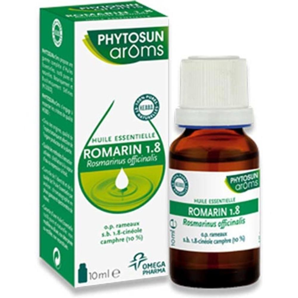 Phytosun aroms huile essentielle romarin 1.8 10ml - 10.0 ml - huiles essentielles hebbd - phytosun arôms -11741