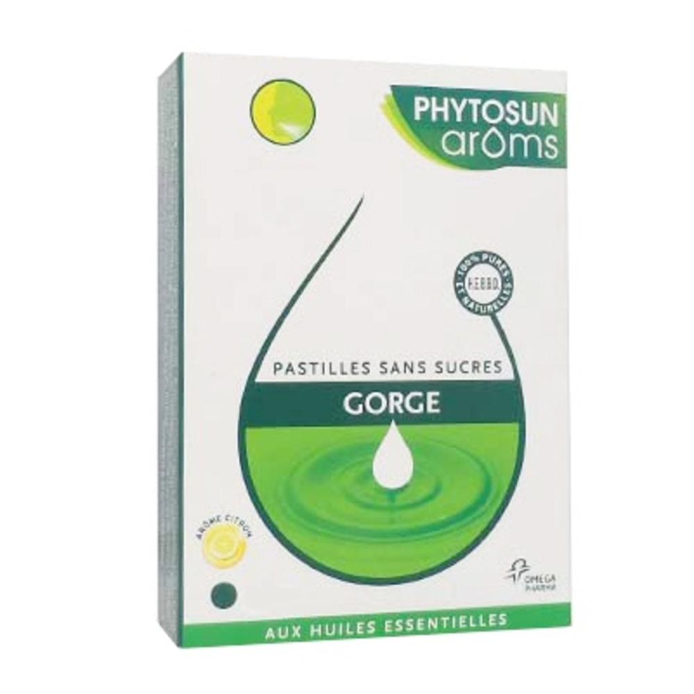 Phytosun aroms pastilles gorge - citron - 24.0 unites - gamme respiration - phytosun arôms -126706