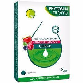 Phytosun aroms pastilles gorge sans sucres fruits rouges x24 - phytosun arôms -216298