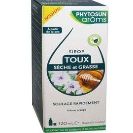 Phytosun aroms sirop toux sèche et grasse 120ml - phytosun arôms -222465
