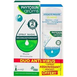 Phytosun aroms spray nasal 20ml + spray assainissant 30ml - phytosun arôms -211142