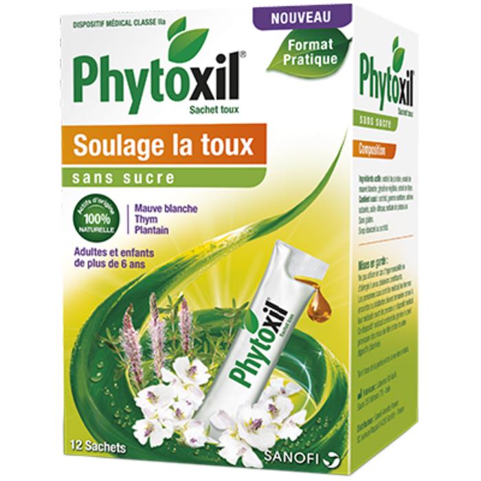 Phytoxil toux sans sucre 12 sachets Sanofi-219327