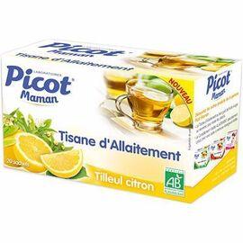 Picot maman tisane d'allaitement tilleul citron 20 sachets - picot -190918
