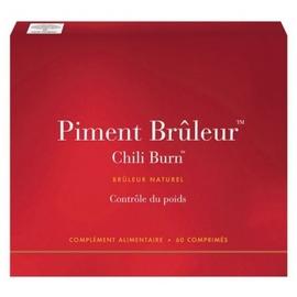 Piment bruleur chili burn - 60 comprimés - new nordic -190135