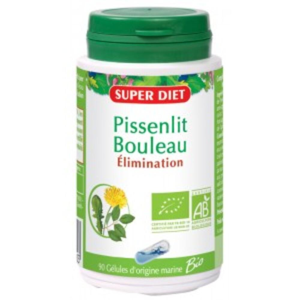 Pissenlit bouleau bio - 90.0 unites - les gélules de plantes bio - super diet élimination et détoxification-11123