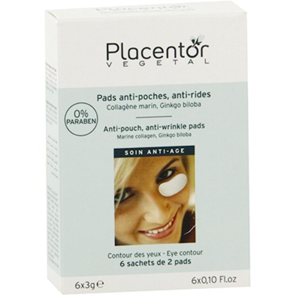 Placentor vegetal pads yeux anti-poches anti-rides x12 - placentor vegetal -205844