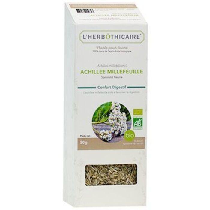 Plante pour tisane achillée millefeuille bio 50g L'herbothicaire-220341