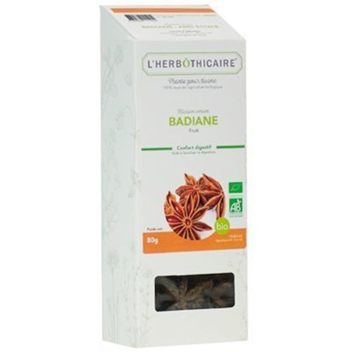 Plante pour tisane badiane bio 80g L'herbothicaire-220348