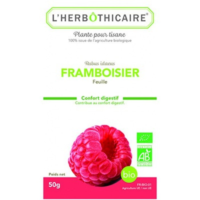 Plante pour tisane framboisier feuille bio 50g L'herbothicaire-214024