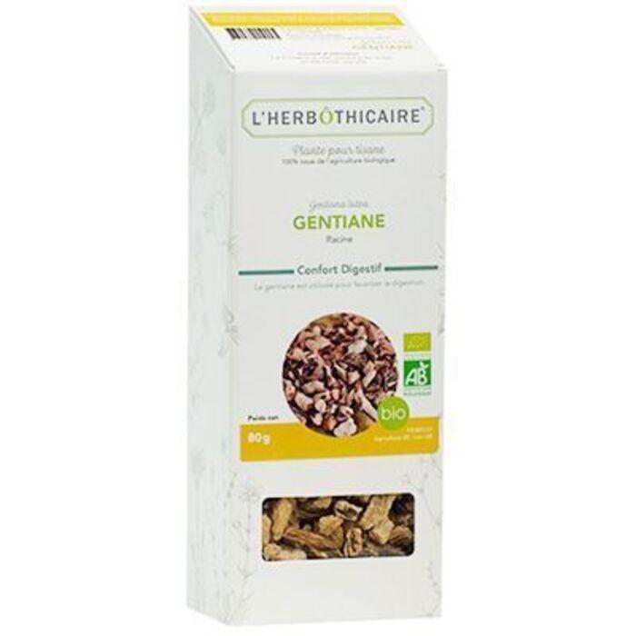 Plante pour tisane gentiane bio 80g L'herbothicaire-220370