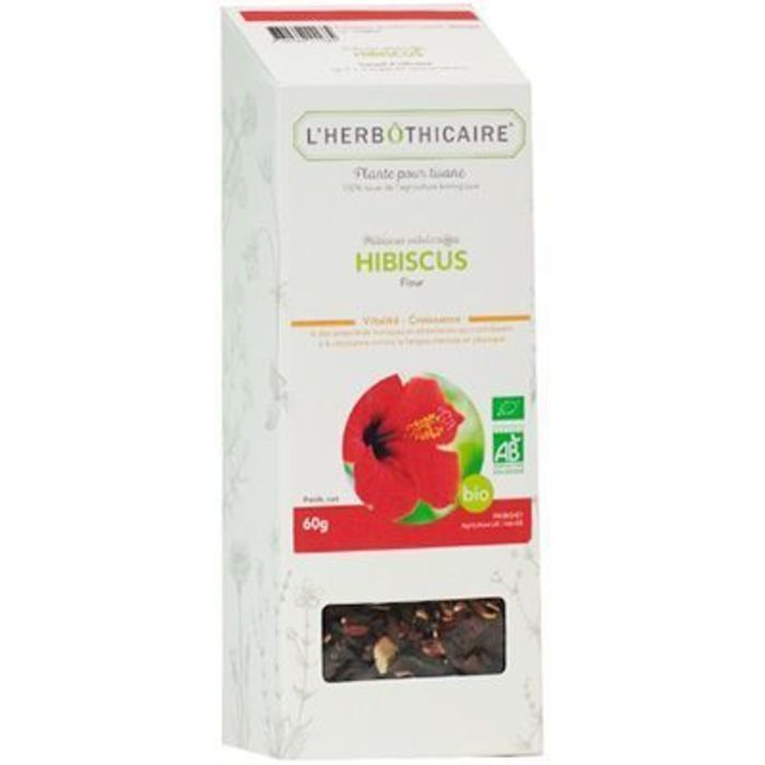 Plante pour tisane hibiscus bio 60g L'herbothicaire-220374