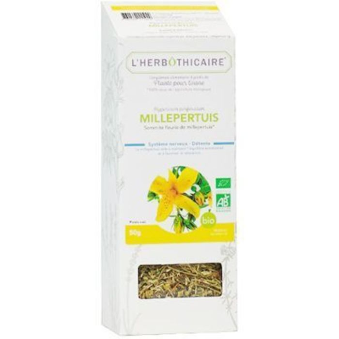 Plante pour tisane millepertuis bio 50g L'herbothicaire-220380