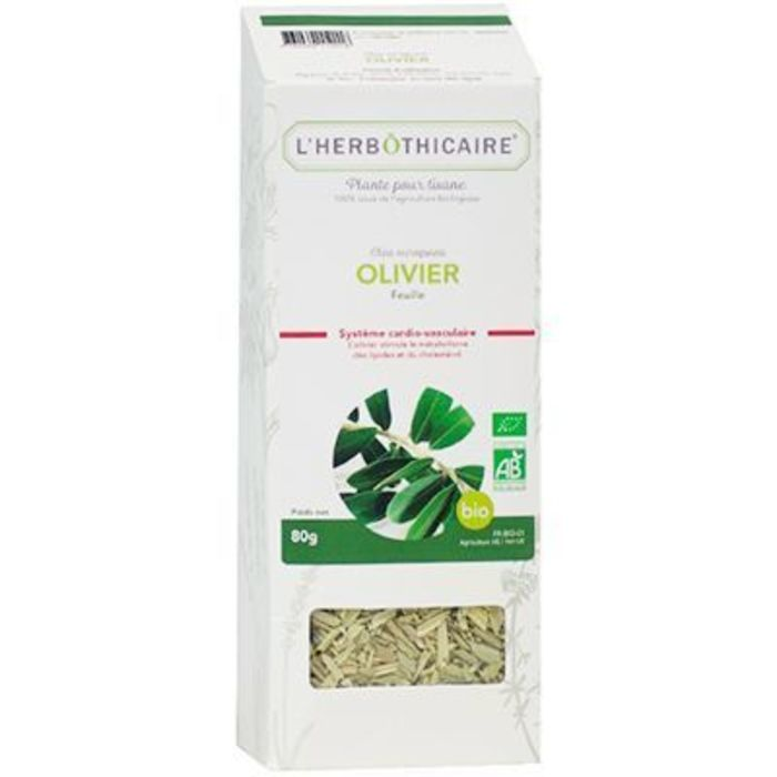 Plante pour tisane olivier bio 80g L'herbothicaire-220383