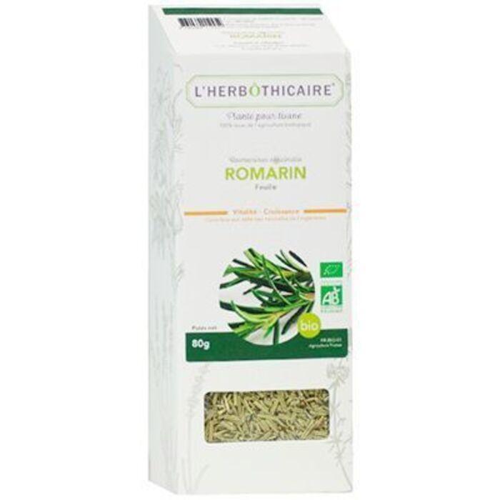 Plante pour tisane romarin bio 80g L'herbothicaire-220391