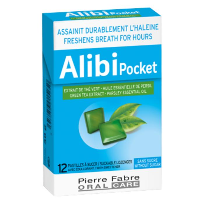 Pocket 12 pastilles sans sucre à sucer Alibi-214269