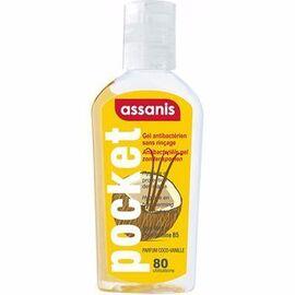 Pocket gel antibactérien sans rinçage coco vanille 80ml - assanis -190743