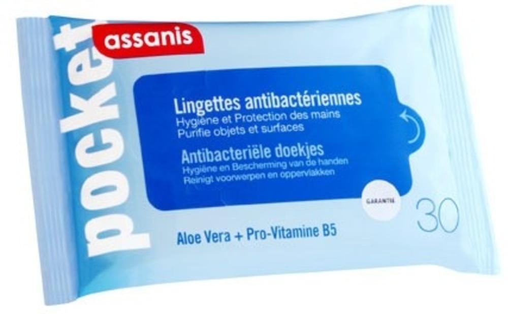 Pocket Lingettes Antibactériennes - Assanis -190399