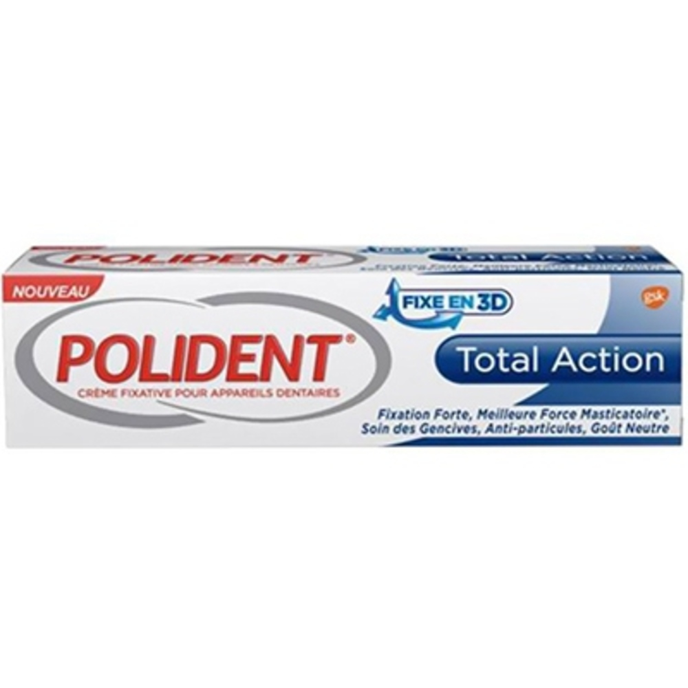 Polident total action crème fixative 40g - polident -212507