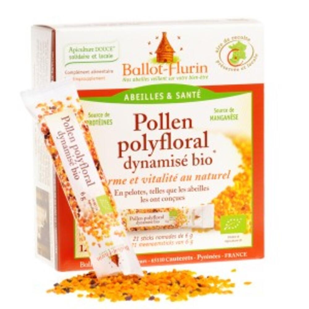 Pollen polyfloral dynamisé bio - boite de 21 sticks - divers - ballot flurin -141724