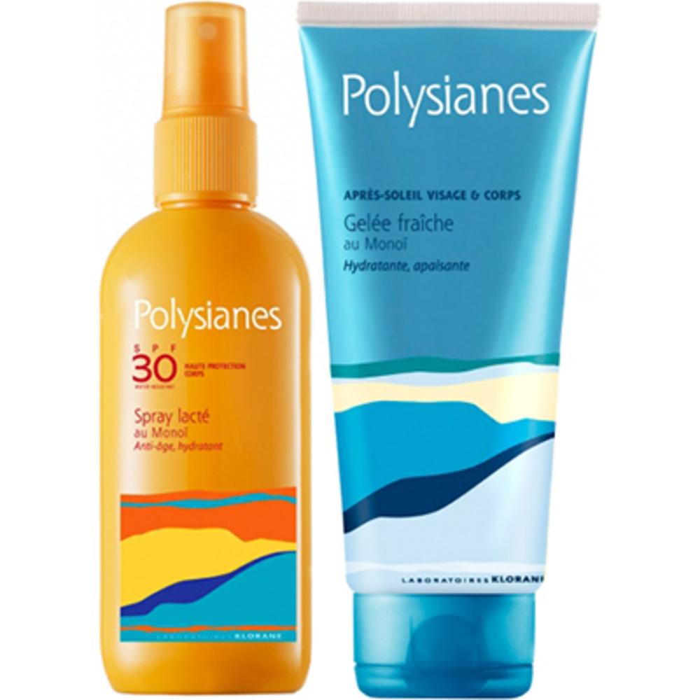 Polysianes spray lacté au monoi spf30 150ml + après-soleil 200ml offert - polysianes -220679