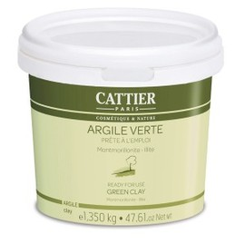 Pot argile verte - 1350.0 g - prêt à l'emploi - cattier Peaux mixtes à grasses-1486
