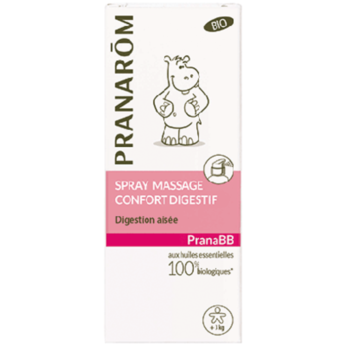 Pranabb spray massage confort digestif bio 15ml Pranarom-189785