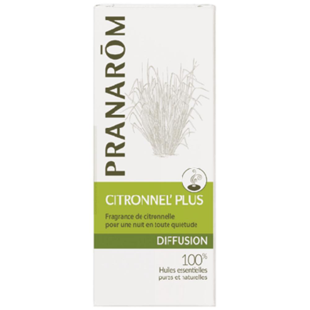 Pranarom diffusion citronnel' plus 30ml - 30.0 ml - synergies d'huiles essentielles - pranarom Pour une nuit paisible sans piqûres-12427